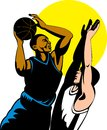 Basketball player with abll Royalty Free Stock Photography