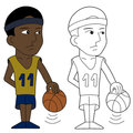 Basketball player cartoon Stock Images