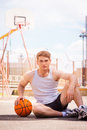 Basketball player. Royalty Free Stock Photo