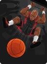 Basketball Player Doing Slam Dunk Royalty Free Stock Photo