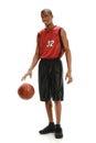 Basketball Player Dribbling Ball Royalty Free Stock Photo