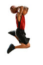 Basketball Player Dunking Royalty Free Stock Photo