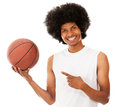 Basketball player holding the ball Stock Image