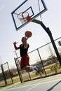 Basketball Player Layup Royalty Free Stock Photo
