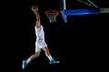 Basketball player portrait Royalty Free Stock Photo
