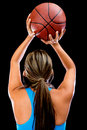 Basketball player shooting Royalty Free Stock Photos