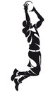 Basketball player, silhouette Stock Photography