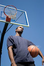 Basketball Player Thinking Royalty Free Stock Photo