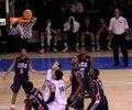 Basketball players rebounding Royalty Free Stock Photo
