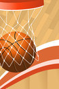 Basketball poster a vector illustration of with copyspace Royalty Free Stock Image