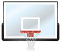 Basketball rim and backboard a illustration of a hoop glass Stock Photos