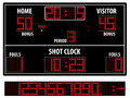 Basketball scoreboard Royalty Free Stock Photo