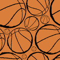 Basketball seamless pattern Stock Photo