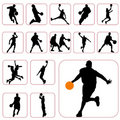 Basketball set Royalty Free Stock Images