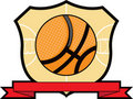 Basketball Shield Stock Images