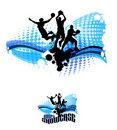Basketball Silhouettes Abstract Illustration Stock Photo