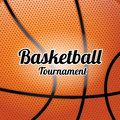 Basketball skin over orange background vector illustration Stock Images