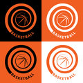 Basketball spiral Royalty Free Stock Photos