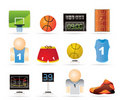 Basketball and sport icons Stock Photography