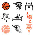 Basketball sports icons Stock Image