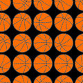 Basketball with stitching detail seamless pattern Royalty Free Stock Photo