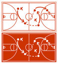 Basketball Strategy Plan Stock Image