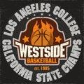 Basketball team emblem