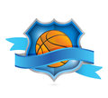 Basketball tennis shield seal illustration design over a white background Royalty Free Stock Photo