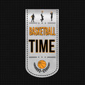 Basketball time banner design Royalty Free Stock Photo