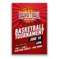 Basketball tournament, modern sports posters design.