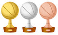 Basketball trophy set Royalty Free Stock Photo
