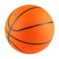 Basketball white Stock Images