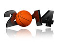 Basketball white background Stock Photos