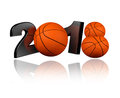Basketball white background Royalty Free Stock Photo