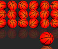 Basketballs background Royalty Free Stock Photos