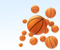 Basketballs in sky Royalty Free Stock Photography