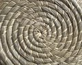 Basketry made of natural fibers in circle style Royalty Free Stock Photo