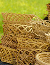 Basketry on nature Stock Images