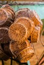 Baskets on the market of Tanger Royalty Free Stock Photo