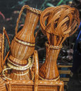 Baskets similar to vases and pitchers Royalty Free Stock Photo
