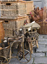 Baskets and wares of handwork Royalty Free Stock Photos
