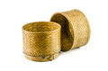 Basketwork from bamboo the thai made Stock Image