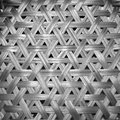 Basketwork in black and white background pattern Stock Images