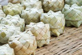 Basketwork tradition thailand box from palm leaf Royalty Free Stock Images