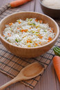Basmati Rice med veggies Royaltyfria Foton