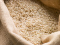 Basmati Rice In Sack Royalty Free Stock Photo