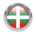 Basque Flag button Royalty Free Stock Photo