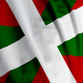 Basque Flag Closeup Royalty Free Stock Photos
