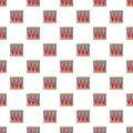 Bass drum pattern seamless