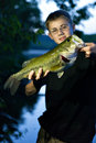 Bass Fishing Royalty Free Stock Photo